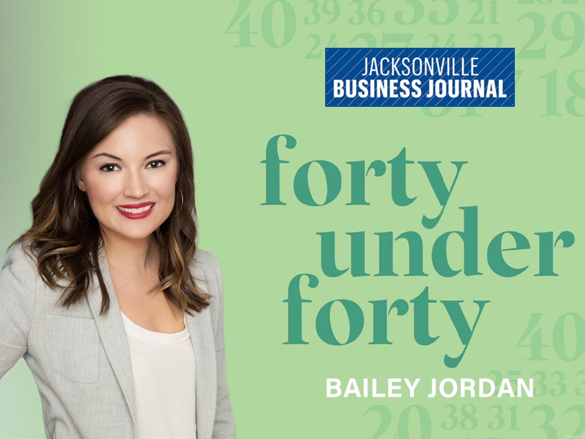 Bailey Jordan inducted into JBJ's 40 Under 40 class of 2021