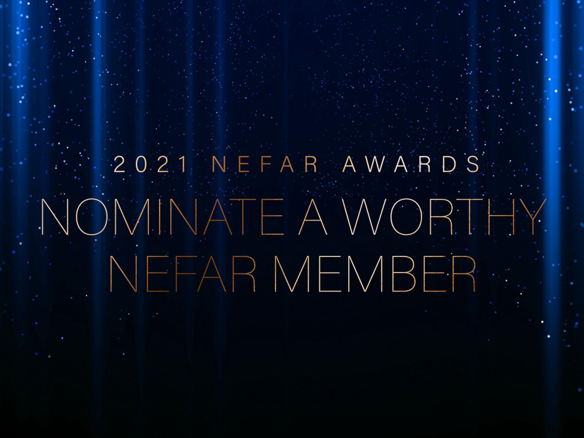 Help identify NEFAR's award winners for 2021