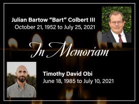 In Memoriam – Julian Bartow Colbert III and Timothy David Obi