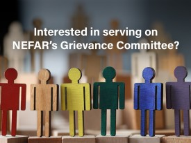 Serve on NEFAR's Grievance Committee